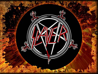 Slayer- Pentagram Sewn Edge Back Patch (bp46)