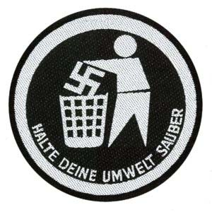 Anti Nazi- Halte Deine Umwelt Sauber Woven Patch (ep503) (Import)