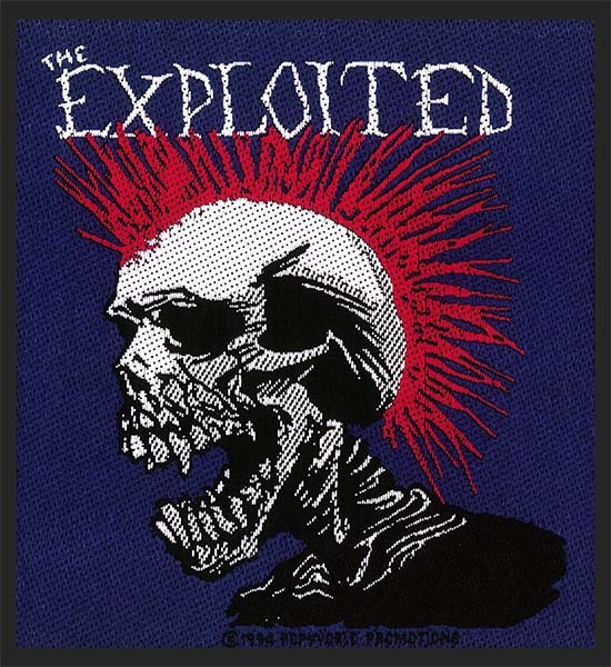 Exploited- Skull Woven Patch (ep765) (Import)