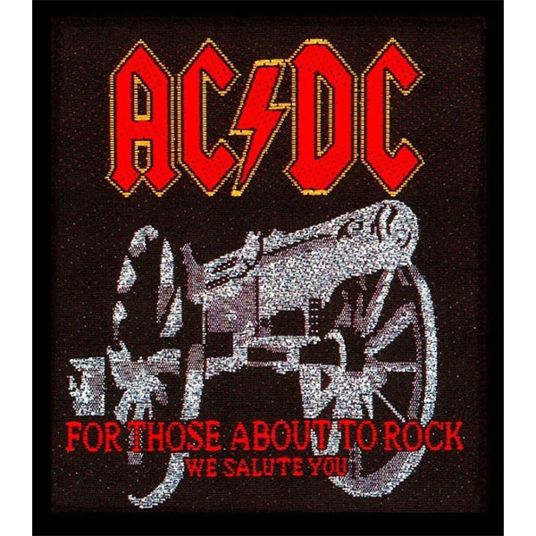 AC/DC- For Those About To Rock embroidered patch (ep826)