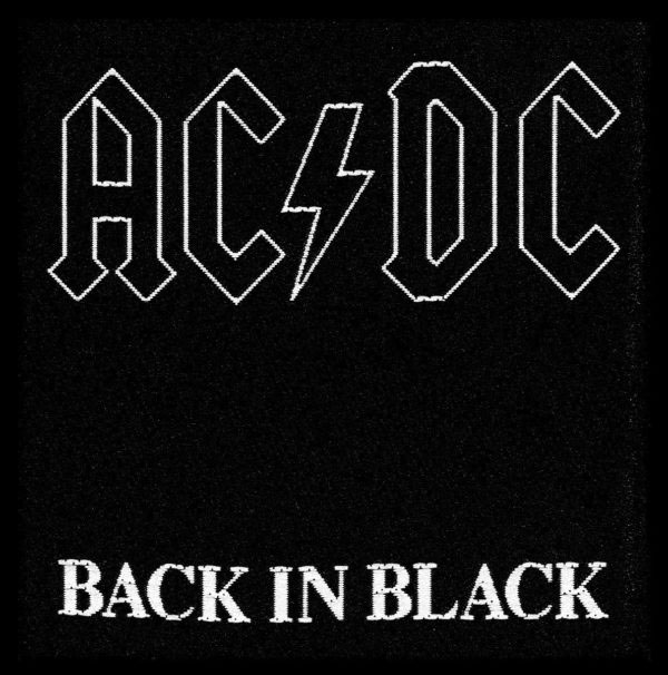 AC/DC- Back In Black Woven patch (ep827) (Import)