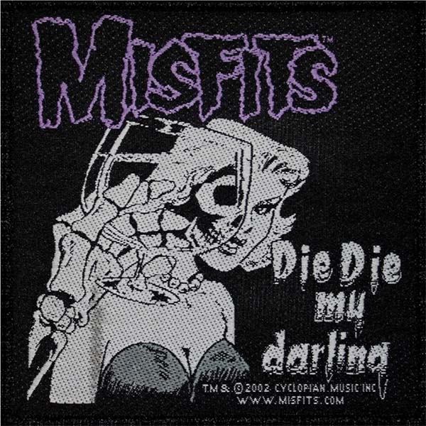 Misfits- Die Die My Darling Woven Patch (ep772)