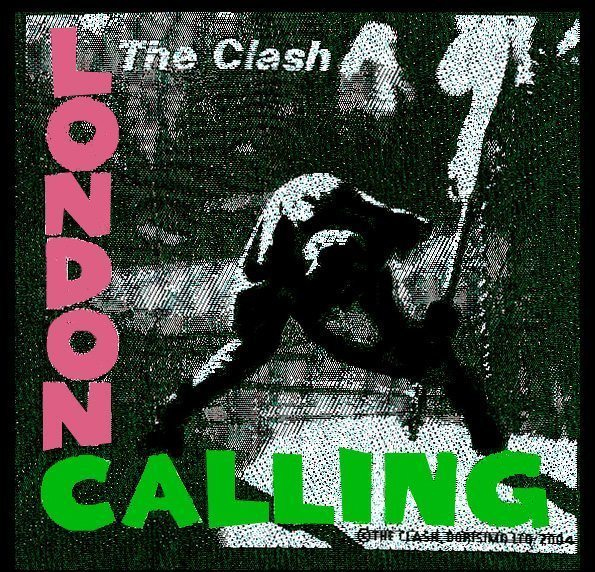 Clash- London Calling Woven Patch (ep775)
