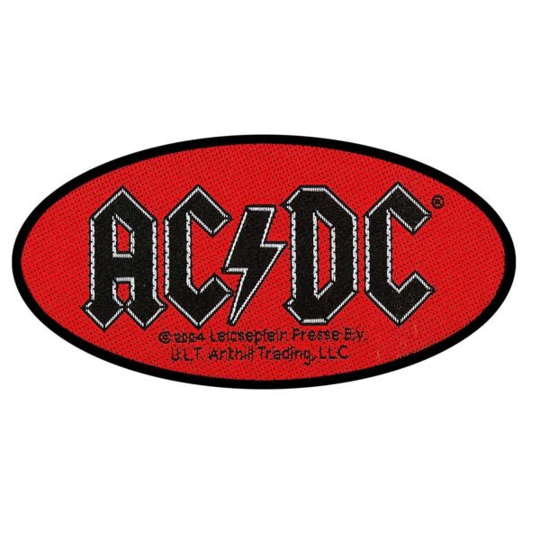 AC/DC- Oval Logo Woven patch (ep825)