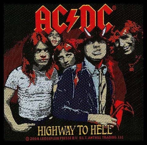 AC/DC- Highway To Hell Woven patch (ep495)