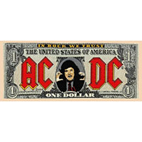 AC/DC- Bank Note Woven patch (ep678)