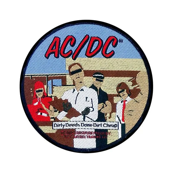 AC/DC- Dirty Deeds Done Dirt Cheap Woven patch (ep496)