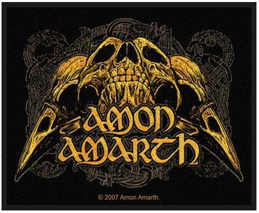 Amon Amarth- Skulls Woven Patch (ep482) (Import)