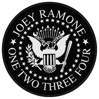 Joey Ramone- One Two Three Four Woven patch (Import) (ep607)