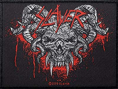 Slayer- Horned Skull woven patch (ep506) (Import)