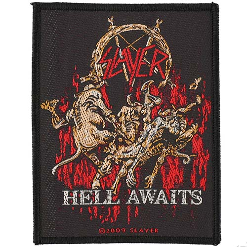 Slayer- Hell Awaits woven patch (ep544) (Import)