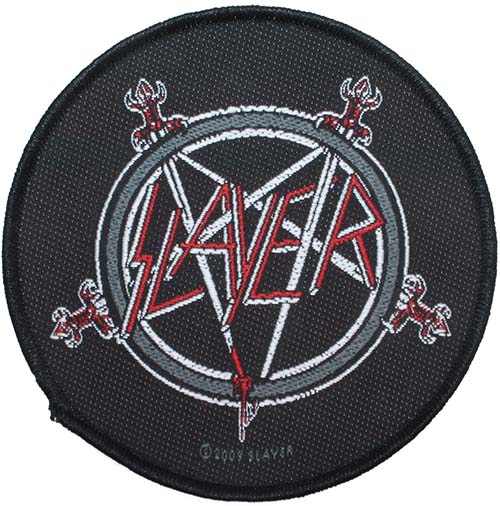 Slayer- Pentagram woven patch (ep570) (Import)