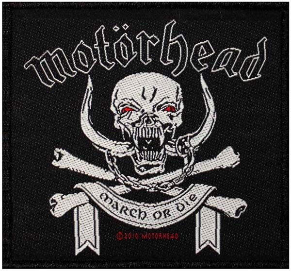 Motorhead- March Or Die Woven Patch (ep536)