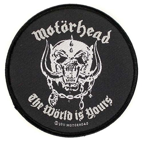 Motorhead- The World Is Yours Woven Patch (ep501)