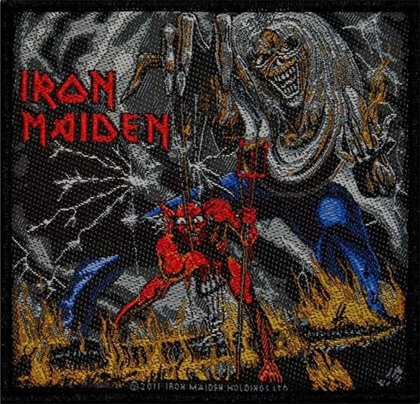 Iron Maiden- The Number Of The Beast Woven Patch (ep652)