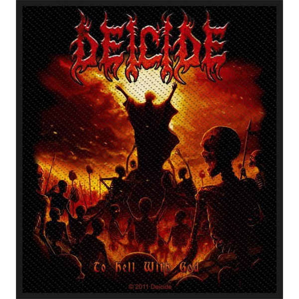 Deicide- To Hell With God Woven Patch (ep830)