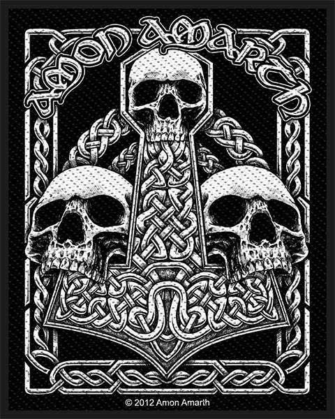 Amon Amarth- Three Skulls Woven Patch (ep784) (Import)