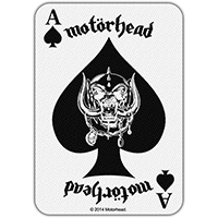 Motorhead- Ace Of Spades Card Woven Patch (ep898)