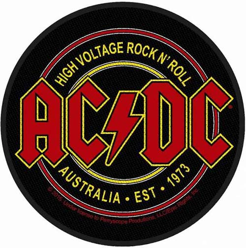 AC/DC- High Voltage Rock N Roll Woven patch (ep497)