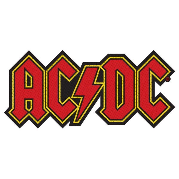 AC/DC- Die Cut Logo Woven patch (ep808) (Import)