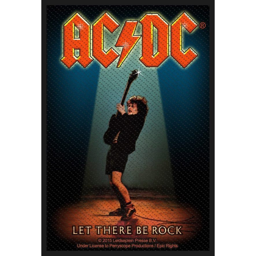 AC/DC- Let There Be Rock Woven patch (ep807)