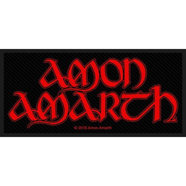 Amon Amarth- Red Logo Woven Patch (ep804) (Import)
