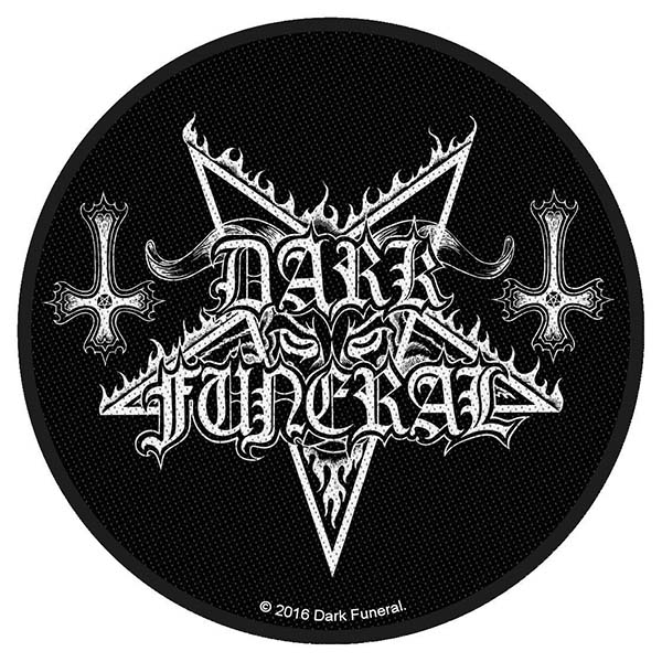 Dark Funeral- Pentagram woven patch (ep464)