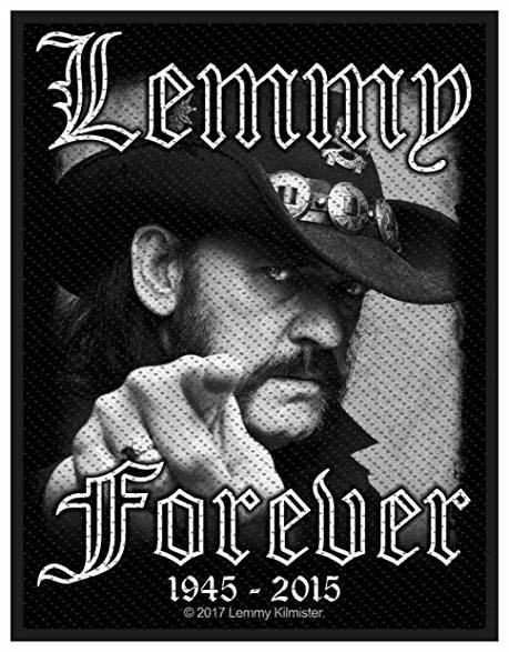 Lemmy Kilmister- Forever (1945-2015) Woven Patch (Motorhead) (ep504)