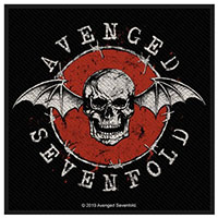 Avenged Sevenfold- Deathbat Red Circle Woven Patch (ep120) (Import)