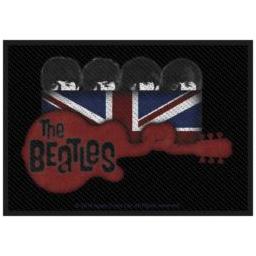 Beatles- Union Jack Guitar Woven Patch (ep665)