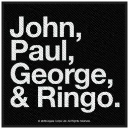 Beatles- John, Paul, George, & Ringo Woven Patch (ep685)