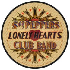 Beatles- Sgt Peppers (Tan & Color) Woven Patch (ep137)