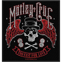 Motley Crue- Too Fast For Love Woven Patch (ep673)