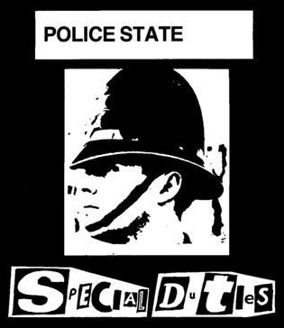 Special Duties- Police State cloth patch (cp234)