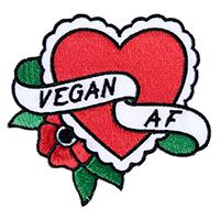 Sourpuss Vegan AF Heart Patch (ep917)