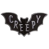 Creepy Bat Embroidered Patch by Sourpuss (ep969)