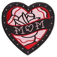 Mom Heart Embroidered Patch by Sourpuss (ep21)