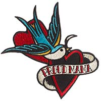 Proud Mama Sparrow Embroidered Patch by Sourpuss (ep203)