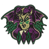 Bat Vamp Embroidered Patch by Sourpuss & Sol Rac (ep342)