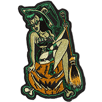 Pumpkin Witch Embroidered Patch by Sourpuss & Sol Rac (ep338)