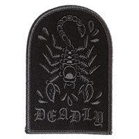 Deadly Scorpion Embroidered Patch by Sourpuss (EP343)