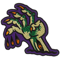 Zombie Hand Embroidered Patch by Sourpuss & Sol Rac (ep336)