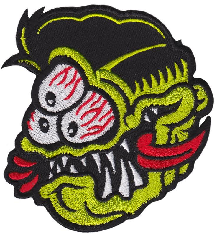 3-Eyed Fink Embroidered Patch by Sourpuss & Dumb Junk (EP733)