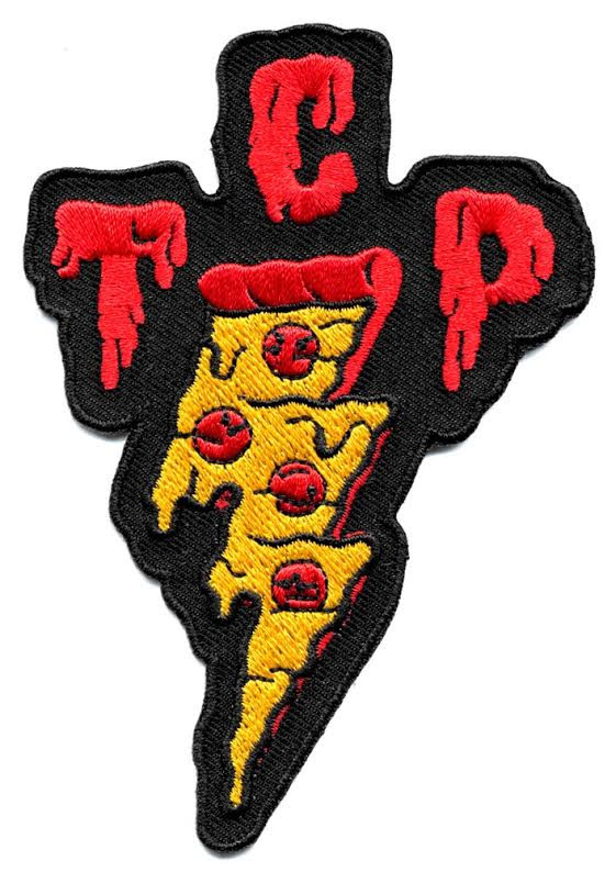 TCP Pizza Embroidered Patch by Sourpuss - SALE (ep674)