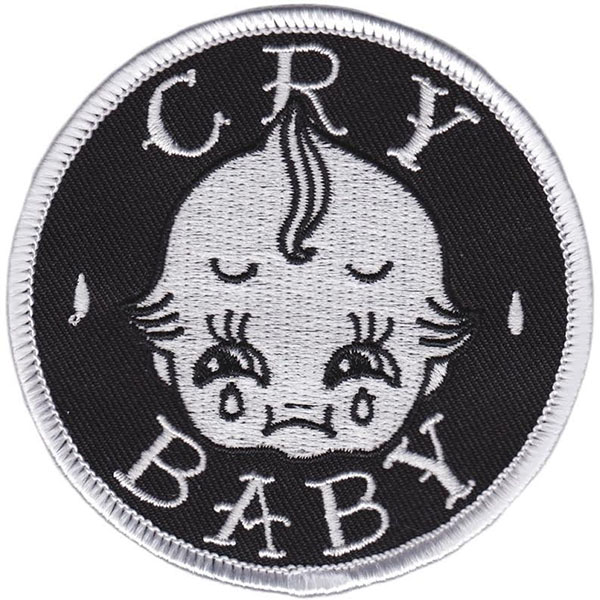Cry Baby Embroidered Patch by Sourpuss (ep669)