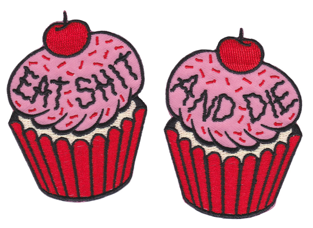 Cupcakes Embroidered Patch Set by Sourpuss (ep712)