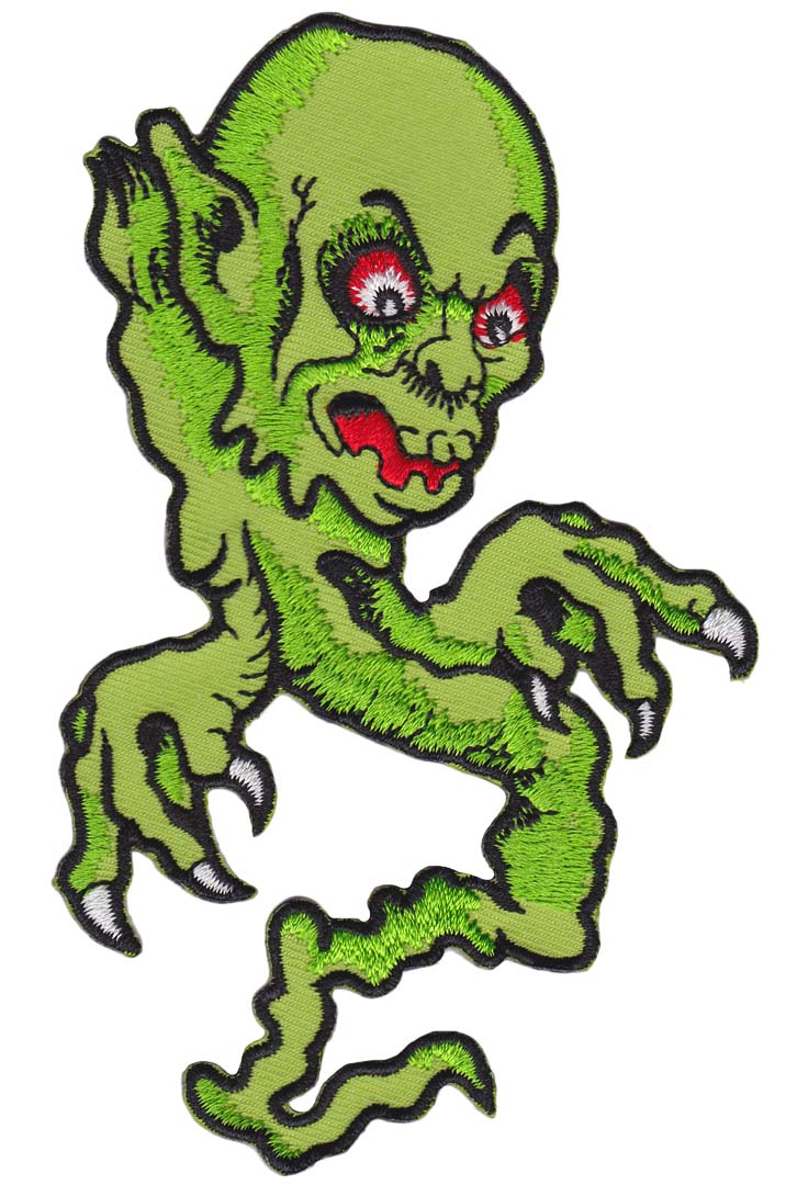 Ghoul Embroidered Patch by Sourpuss - SALE (EP427)