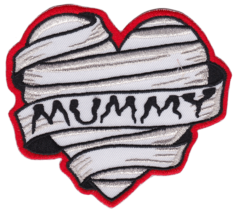 Mummy Embroidered Patch by Sourpuss -  SALE (EP860)