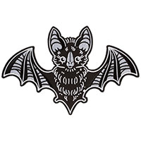 Oversized Creep Heart Bat Embroidered Back Patch by Sourpuss