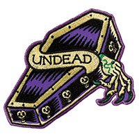 Undead Embroidered Patch by Sourpuss (EP939)